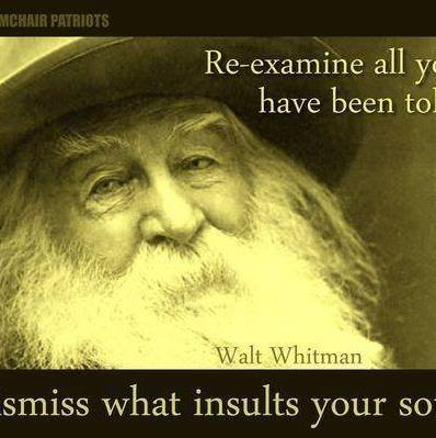 walt whitman examine what told dismiss what insults soul wisdom